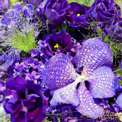 Bridal bouquet in purple